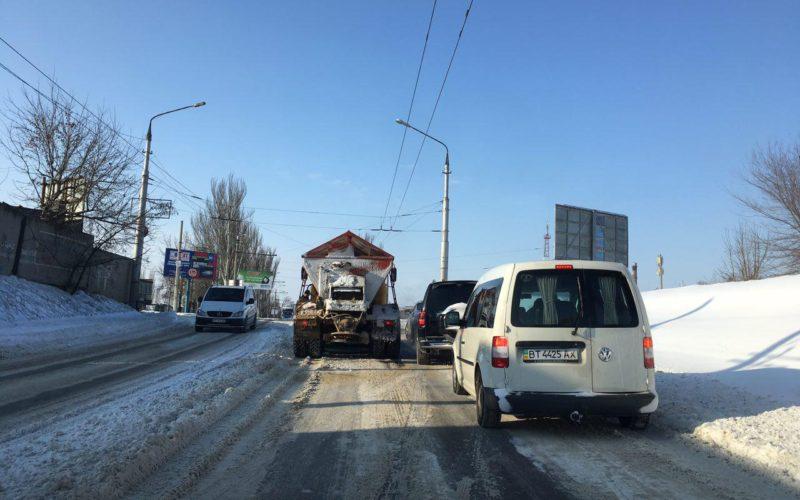 Херсон: дороги - ковзанки