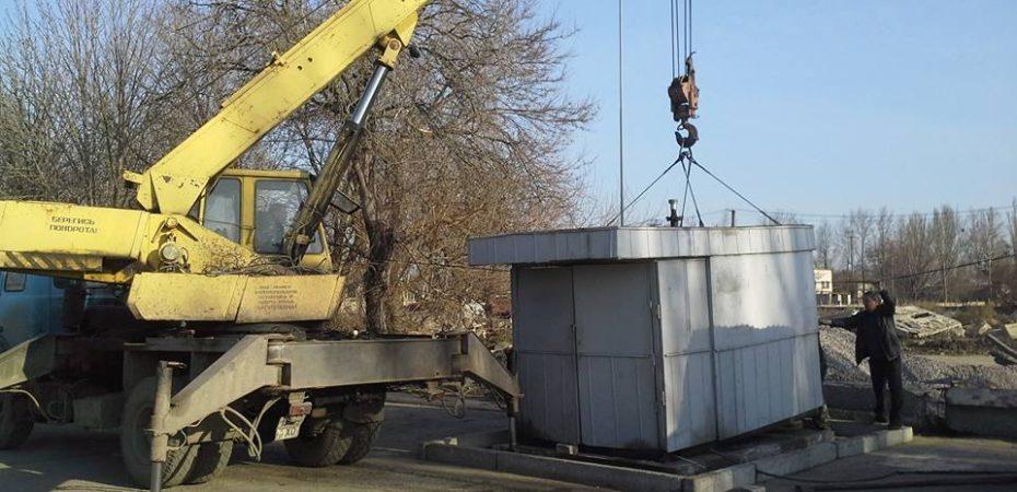 На Николаевском шоссе демонтируют нелегальную АЗС (Фото)