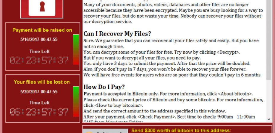 Вирус-вымогатель WannaCry поразил компьютеры по всему миру