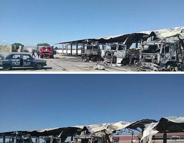 Поджог грузовиков в селе Большие Копани: новые факты