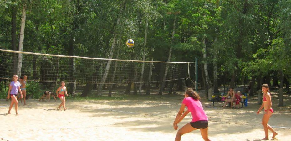 В разгаре пляжный волейбол!