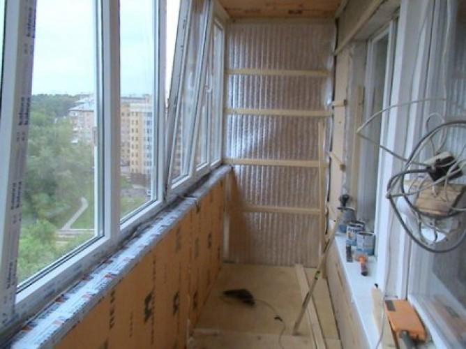 Утепление балкона в серии таганай.