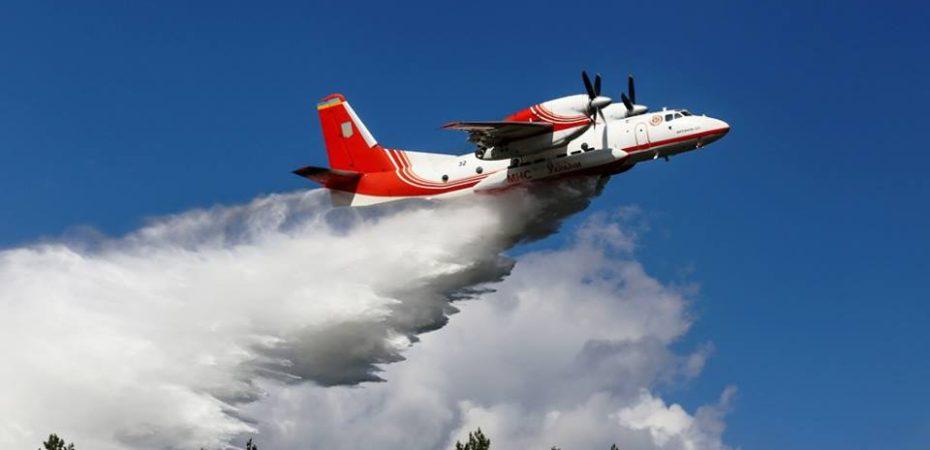 Для гасіння лісової пожежі задіяно авіацію