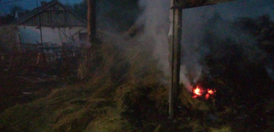 Вчора в області сталося дві пожежі в сінниках