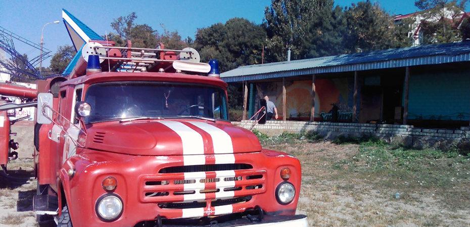 м. Скадовськ: ліквідовано пожежу у місцевому кафе