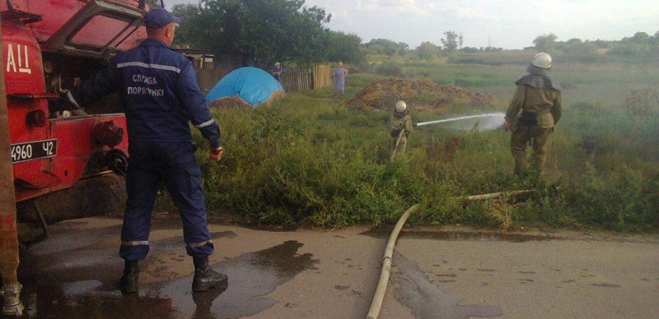 Нижньосірогозькі вогнеборці ліквідували пожежу на відкритій терторії