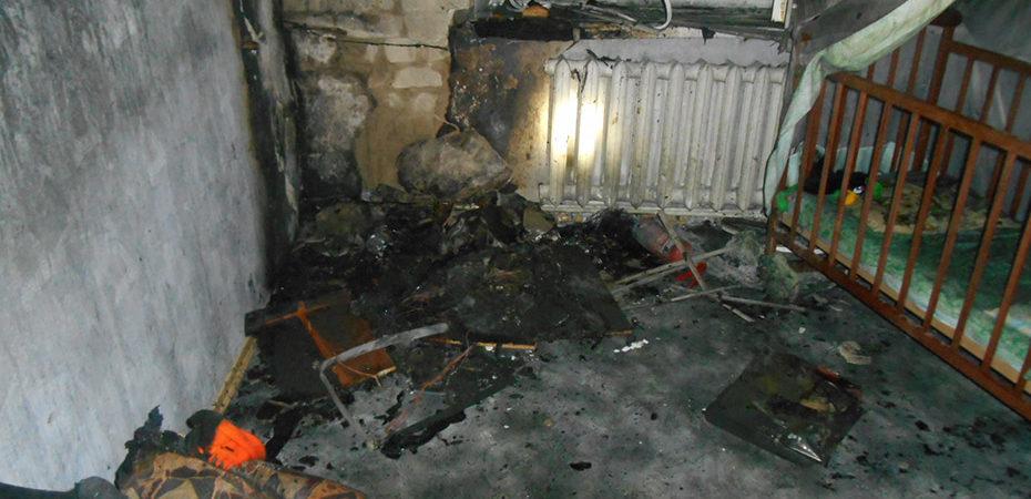м. Нова Каховка: ліквідовано пожежу у квартирі багатоповерхівки