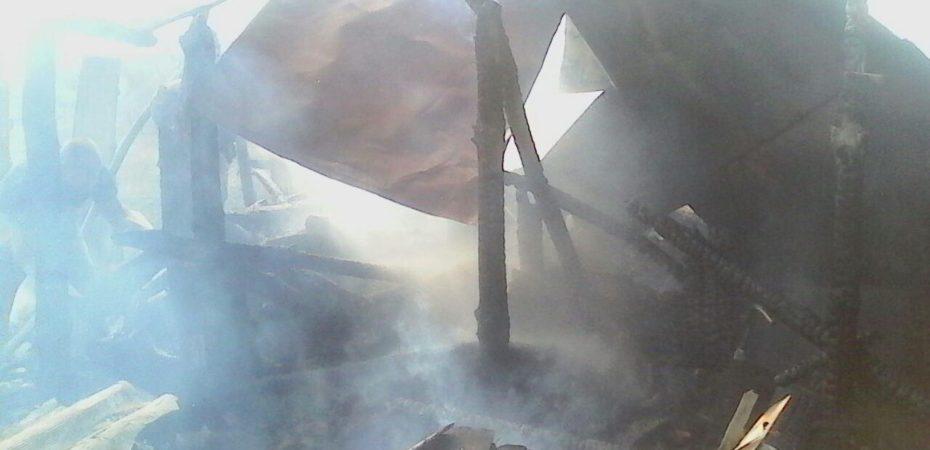 Бериславські вогнеборці ліквідували пожежу сараю з дровами