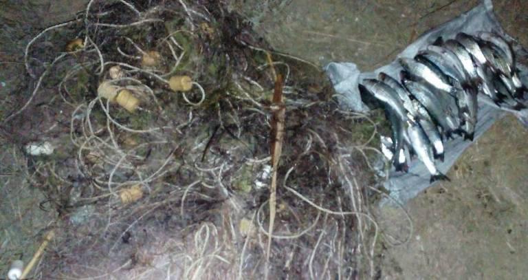 На озері Сиваш прикордонники затримали громадянина, який займався браконьєрством