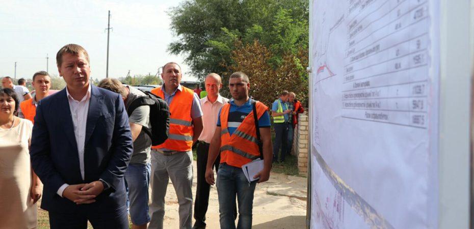 Андрій Гордєєв проінспектував початок ремонту дороги Білозерка-Розлив