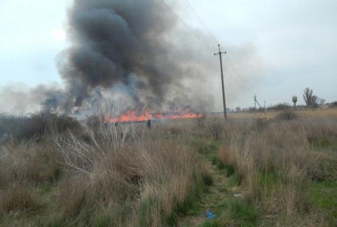 У Каланчацькому районі рятувальники загасили пожежу очерету