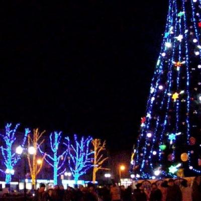 Главную новогоднюю елку в Херсоне откроют в четверг