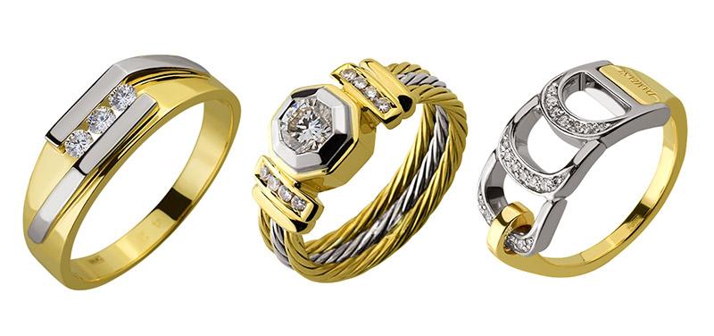 Биметаллические кольца. Фото: diamant.ua
