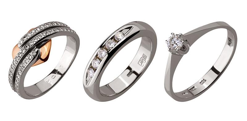 Кольца с бриллиантами. Фото: diamant.ua